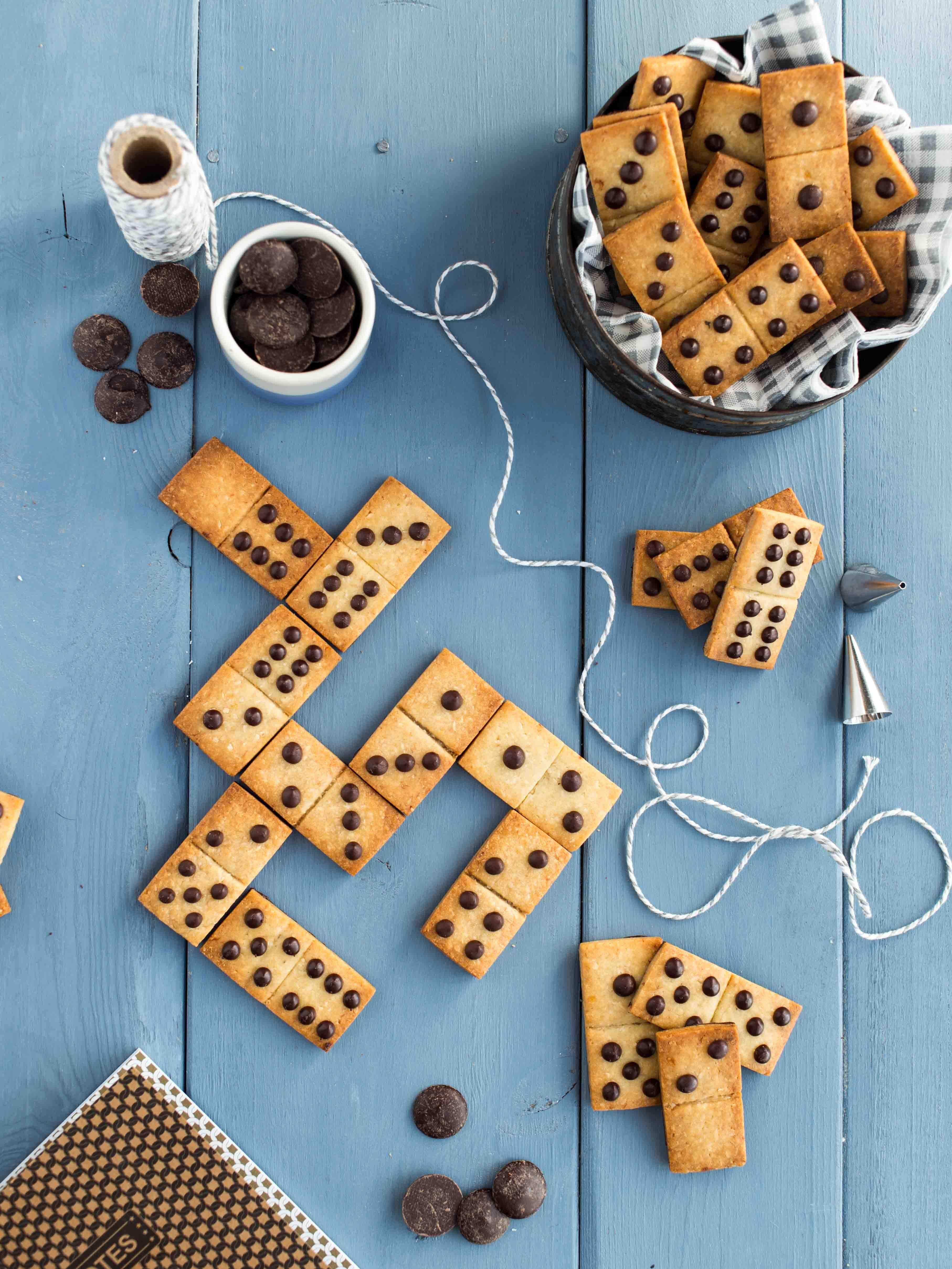 Sablés Domino Choco/Coco/Banane (sans œufs ni beurre) #kageideer