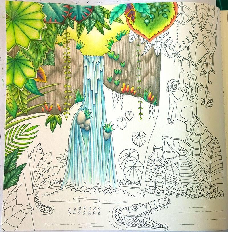 From Magic Jungle by Johanna Basford; Colorist is Peta ...