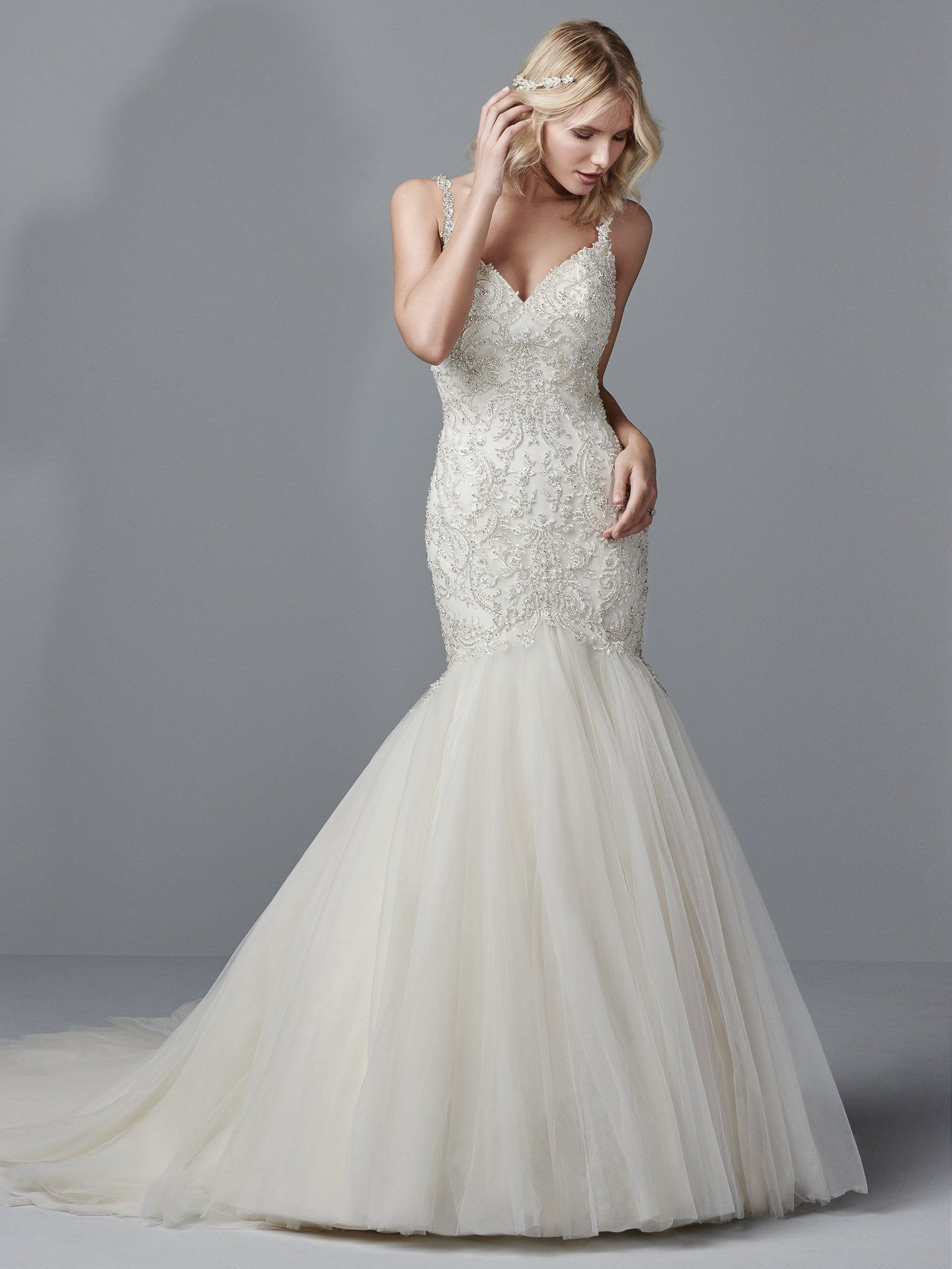 Eyelet wedding dress  Maggie Sottero Wedding Dresses  Sottero midgley and Wedding dress