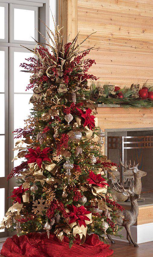 Pin de mirna morales en arboles navide os 2017 navidad for Arboles navidenos decorados