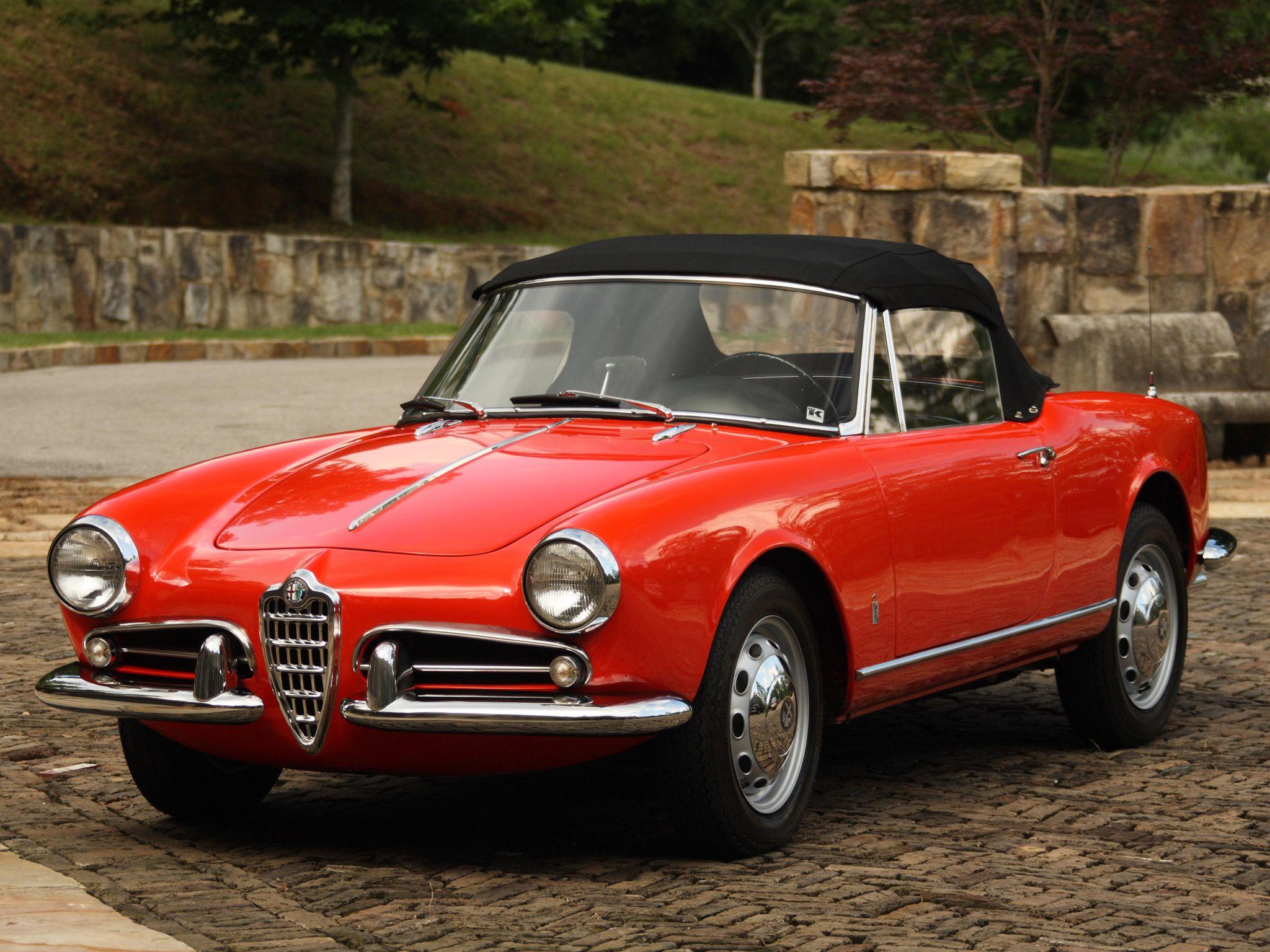 1956 Alfa Romeo Giulietta Spider Nostalgia On Four Wheels Alfa Romeo Giulietta Alfa Romeo Alfa Romeo Spider