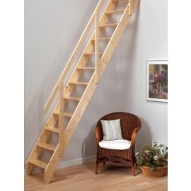 Buy Madrid Wooden Loft Stairs From Our Ladders Step Stools Range Tesco Com With Images Loft Stairs Attic Stairs Space Saving Staircase