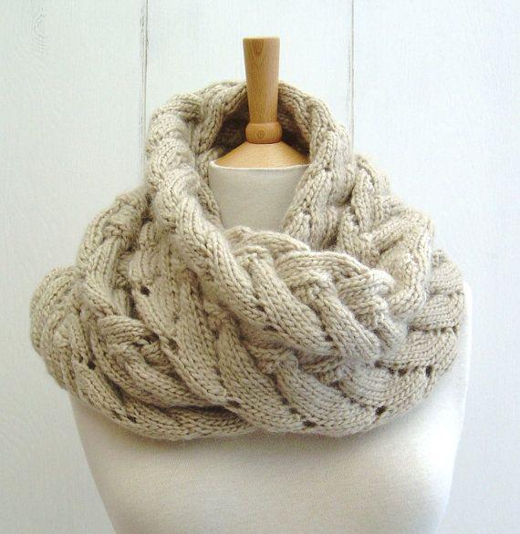 New Knitting PATTERN Chevron Lace Cable Wrap by Richmondhillknits, $5.00