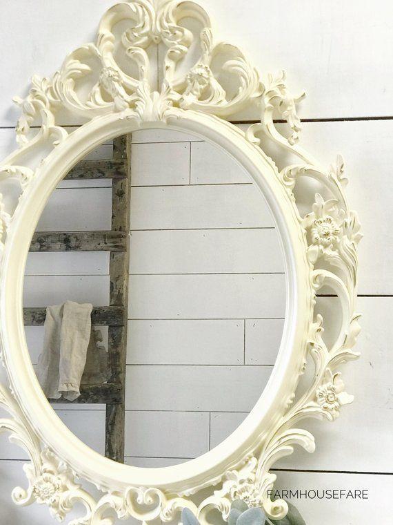 Oval Bathroom Mirror Shabby Chic Rh Pinterest Com Frames Target