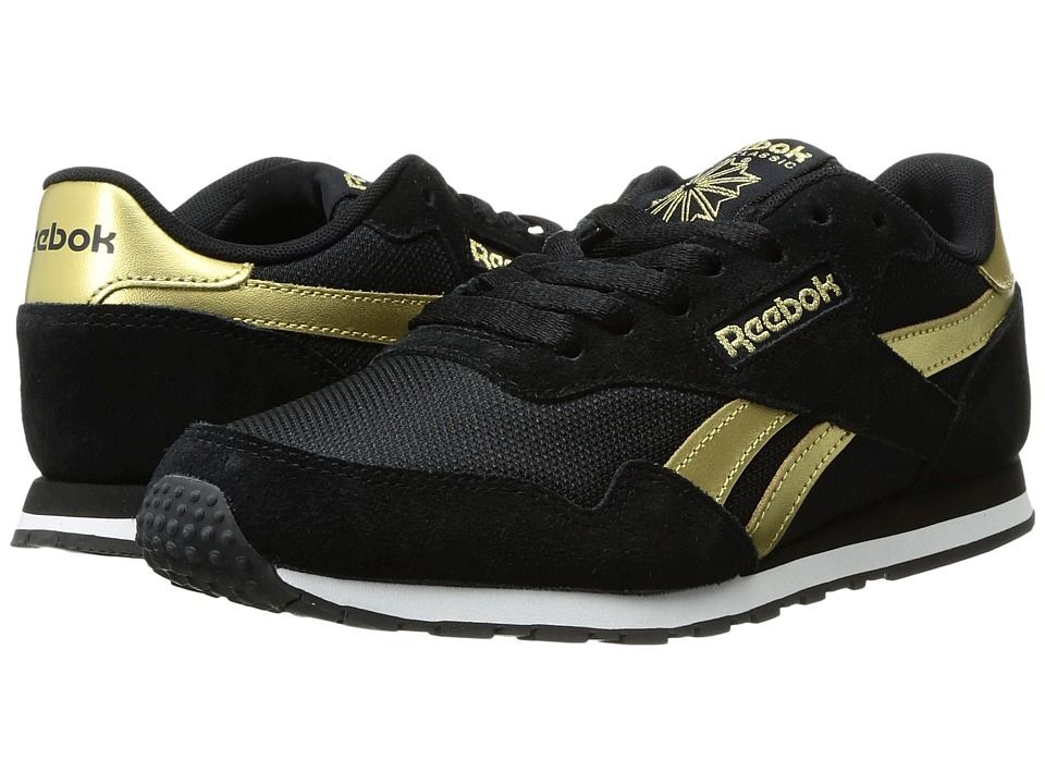 96e25324b77 REEBOK REEBOK - ROYAL ULTRA SL (BLACK GOLD METALLIC WHITE) WOMEN S CLASSIC  SHOES.  reebok  shoes
