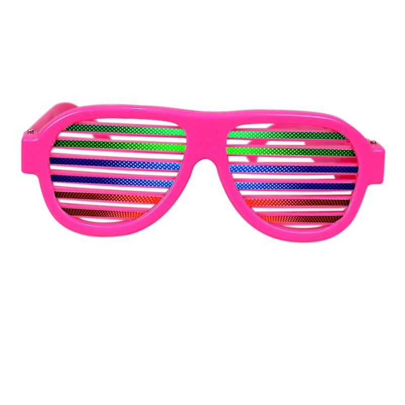 3e3e223d3c2d98 Pink Frame Flashing Sound Activated Shutter Shades Sunglasses ...