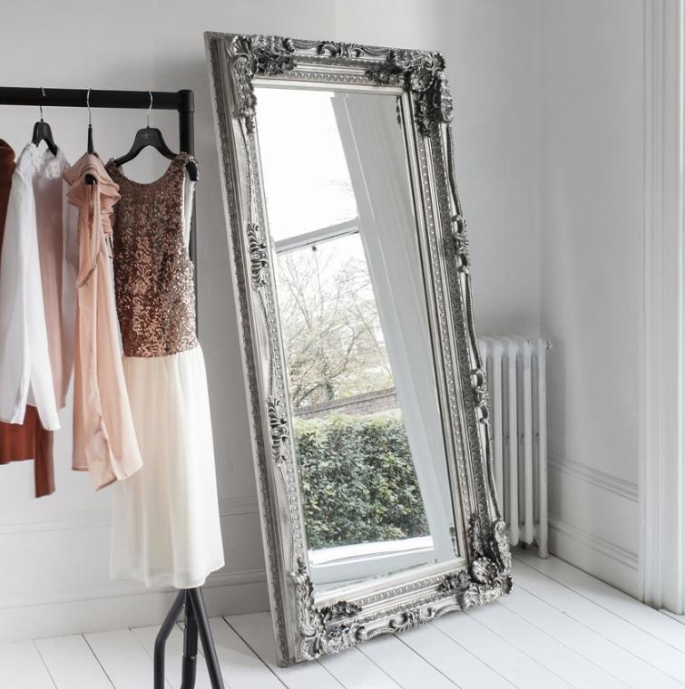 Silver Baroque Mirror Silver Floor Mirror Anna Beau Select From An Elegant Collec Floor Standing Mirror