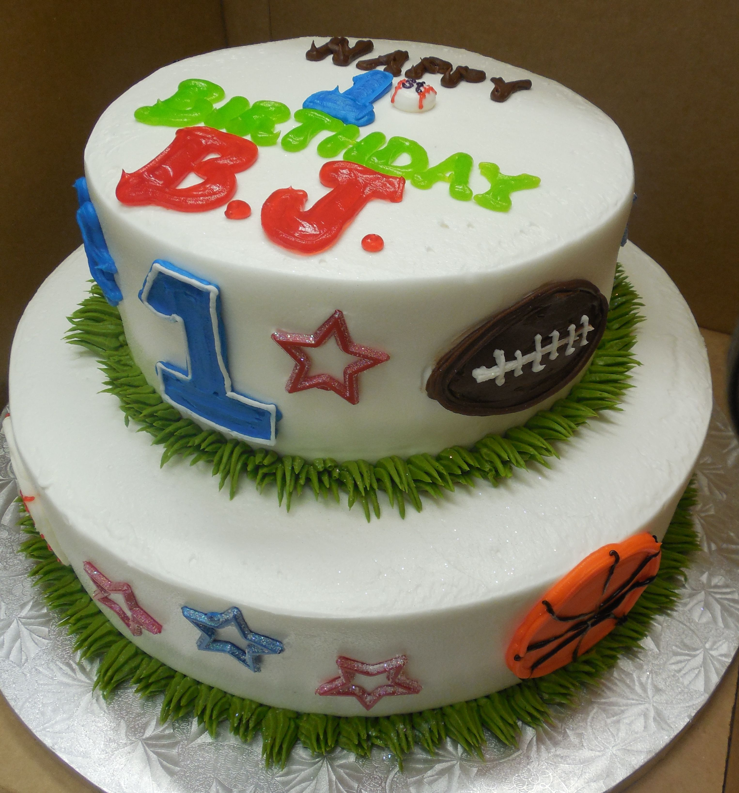 Calumet Bakery Sports Theme 1st Birthday Cake