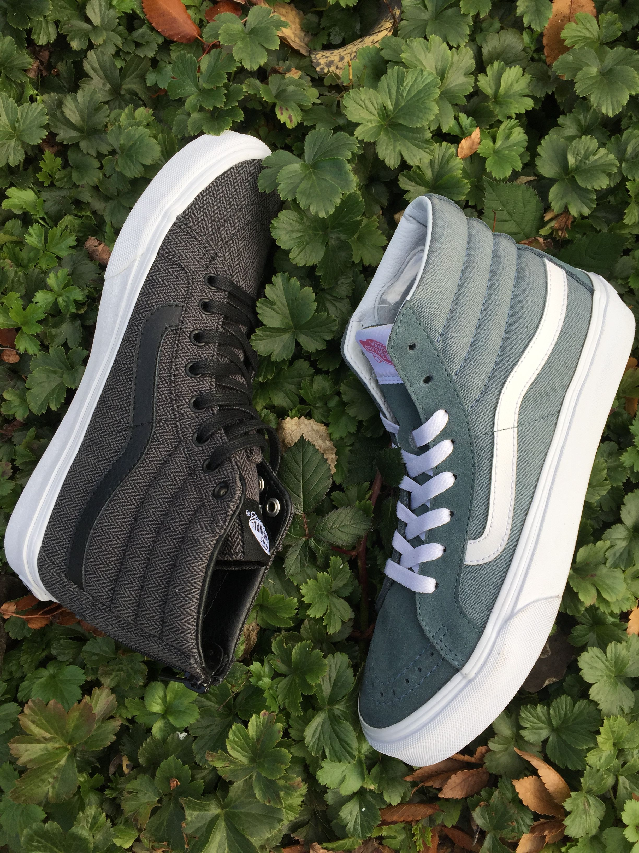 db50e255545 Vans Sk8 Hi Slims in Herringbone Tweed and Stormy Weather