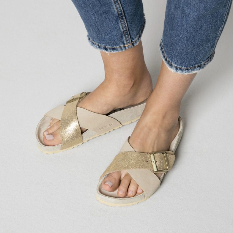 Birkenstock Siena Suede Leather Allover Taupe in 2020