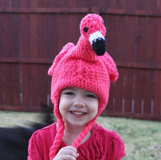 crochet flamingo hat   Flamingo   Pinterest