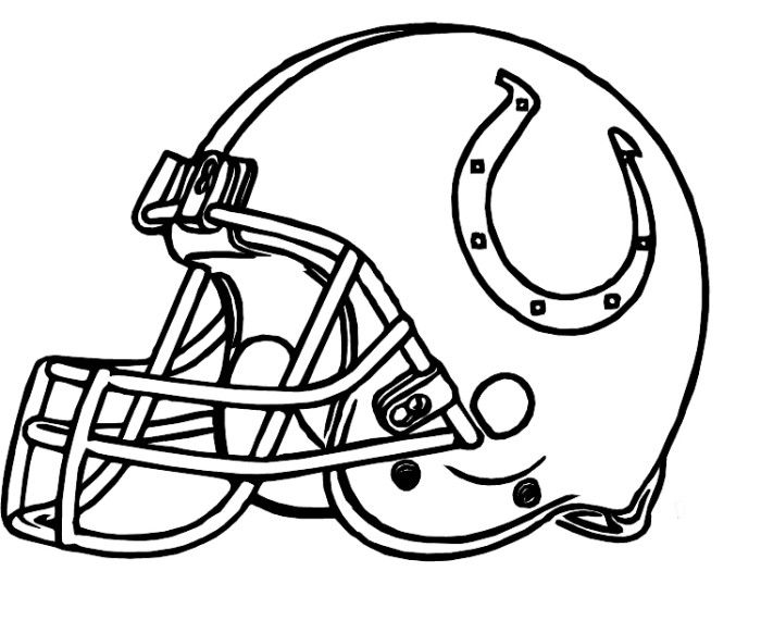 Helmet Colts Indianapolis Coloring Pages Football Coloring Pages