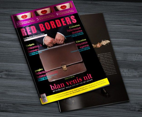 This Free InDesign magazine template has simple basic design. The ...