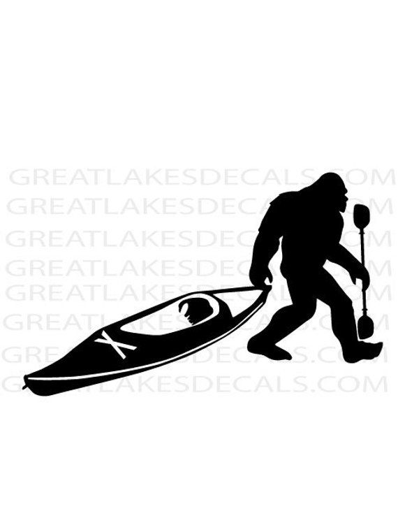 Photo of Kayak Bigfoot Vinyl Decal Sticker