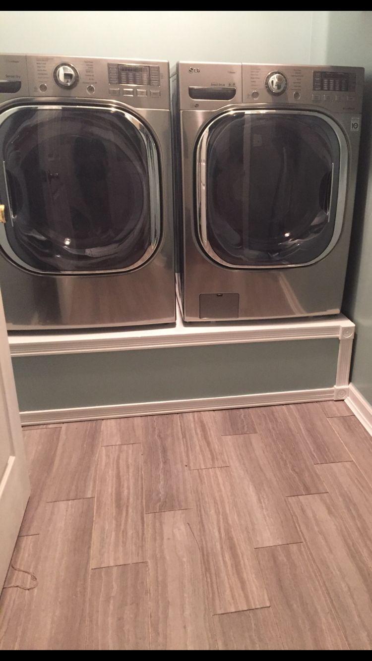 Washer and dryer pedestals. My husband rocks!!
