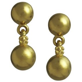 The Met Store -  Indian Golden Berry Earrings