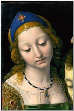 Salome with the Head of Saint John the Baptist // Andrea Solario (1465–1524) Detail -