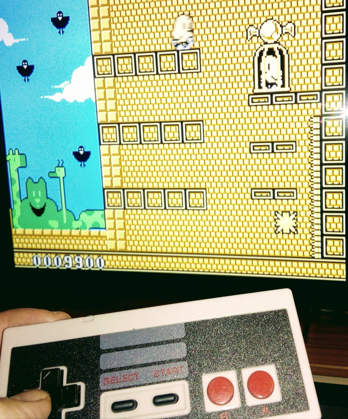 Android NES emulator on my TV  Playing with NES USB controller