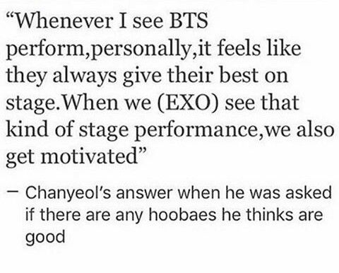 Why Are There Fan Wars Idols All Get Along Fine Why Don T We Bts And Exo Kpop Exo Chanyeol