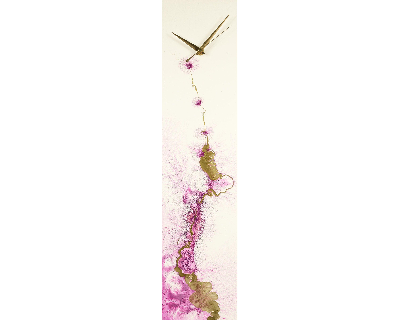 Purple Home Decor Modern Wall Clock For Kitchen Or Office Wall Etsy Purple Home Decor Wall Clock Modern Wall Clocks Uk