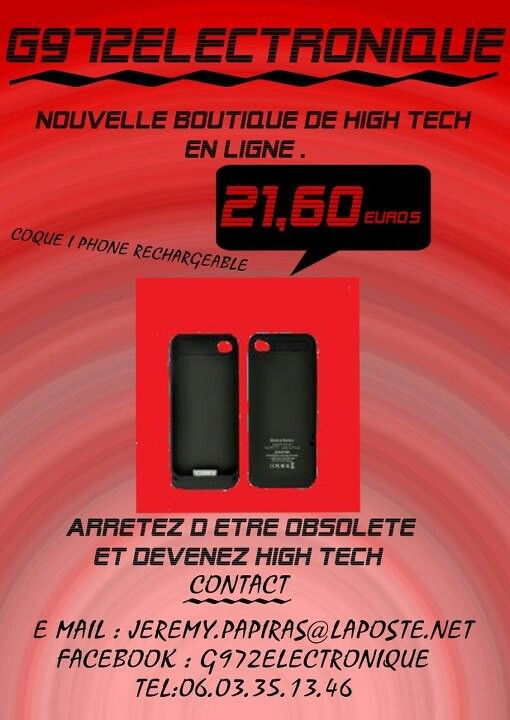 Coque i phone rechargeable