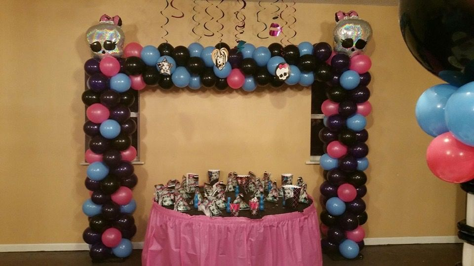 Superior Parties and Events  Monster High theme  Book your next event today 251-294-0735