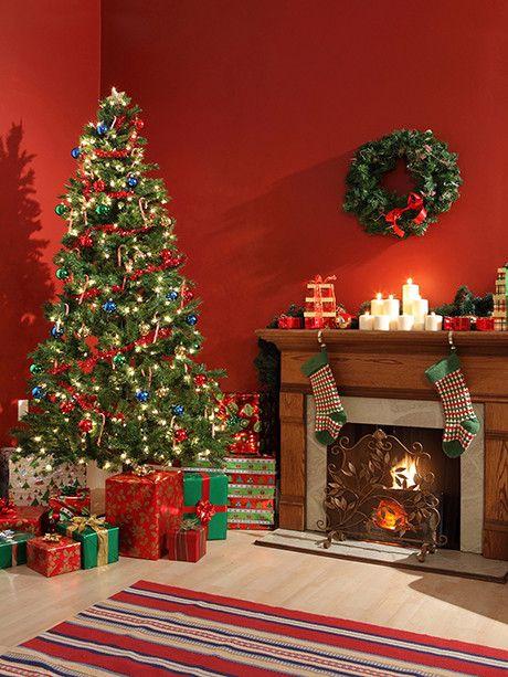 Comfy Christmas Ii Printed Photo Background 073 Dropplace Christmas Interiors Christmas Backdrops Christmas Photos Living room background with christmas