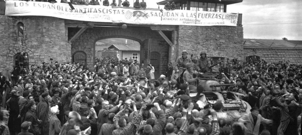Foto:  Liberación del campo de Mauthausen el 6 de mayo de 1945