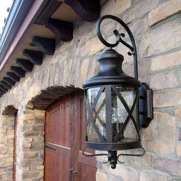 Red Barrel Studio Habgood Regency Bronze 3 Bulb Outdoor Wall Lantern Vozeli Com