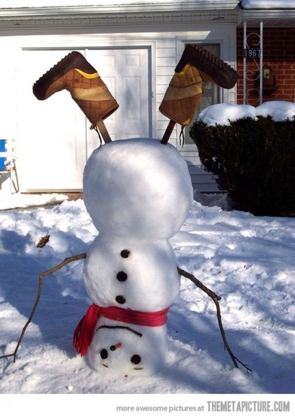 Pinterest and snow make for some creative snowmen pictures ...