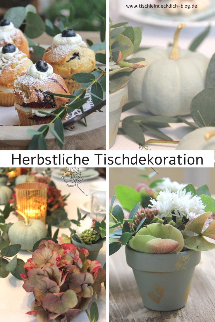 Chalky Kurbisse Fur Eine Herbstliche Tischdekoration Tischlein