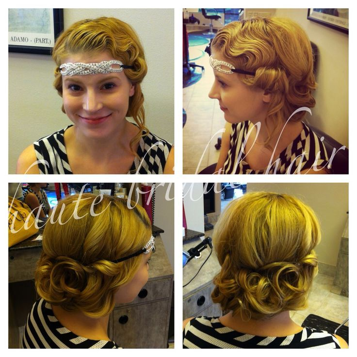 1920 Hairstyles Updos Updo 1920s Retro Vintage Hair Styles