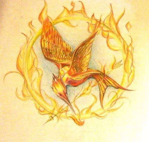 how to draw hunger games mockingjay symbol
