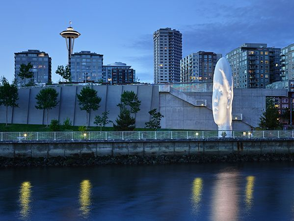 """Take a walk through the Olympic Sculpture Park to see stunning art along the water."" -Melinda Gates"