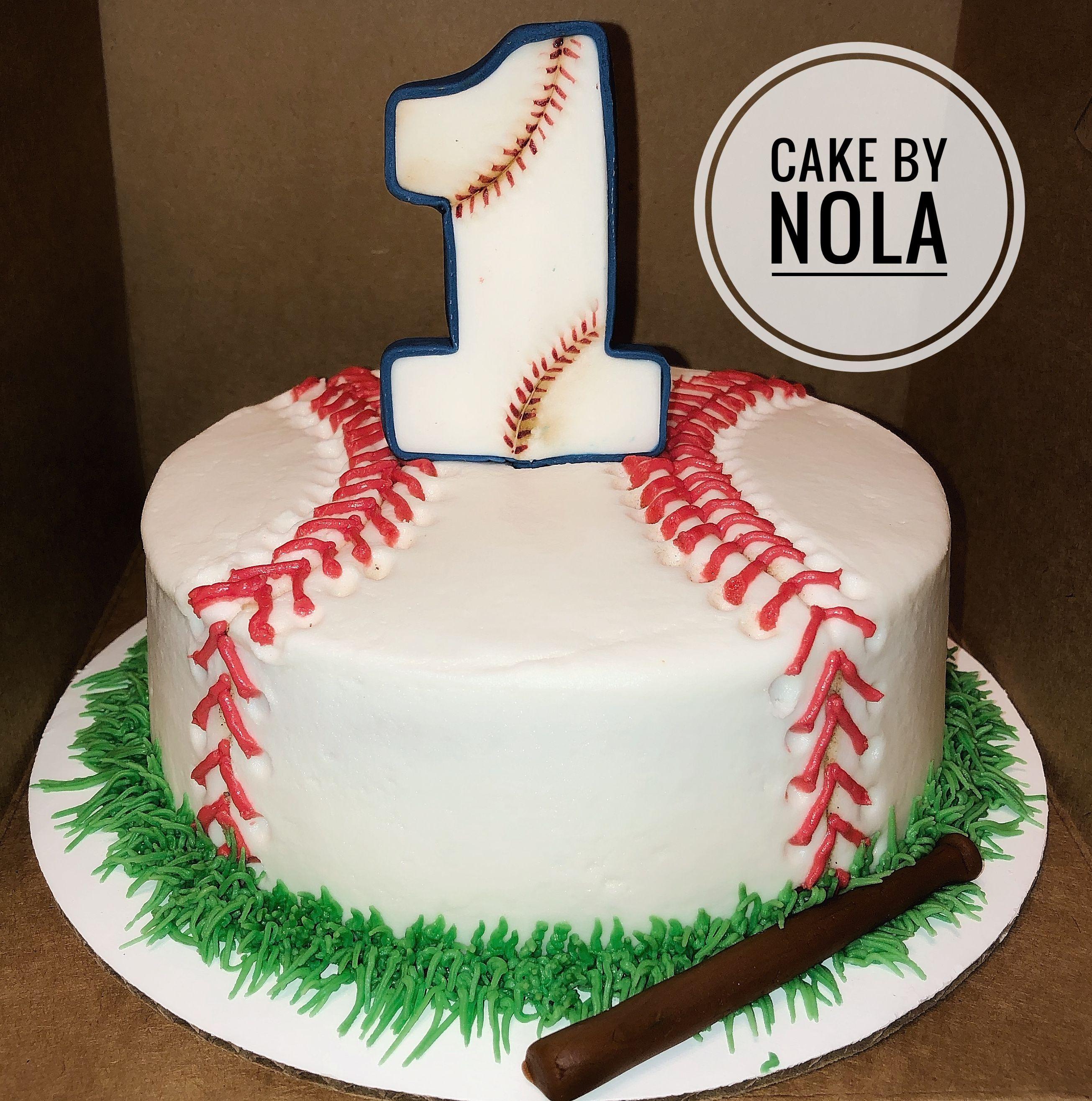 Baseball themed smash cake for Mr. Madden's first birthday ...