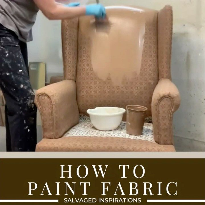 """Salvaged Inspirations #siblog on Instagram: """"Do you have an old fabric chair that's super dated? I have the perfect solution! With a little paint, you can turn it into a high-end…"""""""