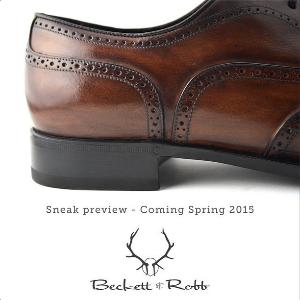 We probably shouldn't be showing you this yet. Can't help it.  A complete line of calfskin shoes launching next Spring.  www.BeckettRobb.com