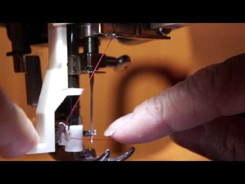 HOW TO USE THE AUTOMATIC NEEDLE THREADER ON A SINGER SEWING MACHINE Mesmerizing Sewing Machine Automatic Threader