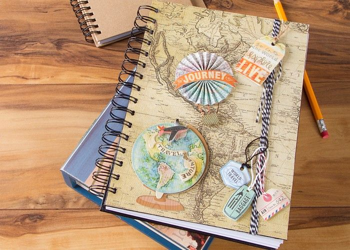 scrapbook paper covered trip diary hobbies pinterest scrapbook
