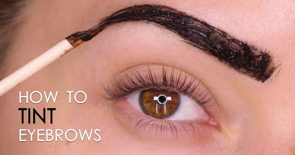 How to tint eyebrows   Eyebrow tinting, Light eyebrows ...