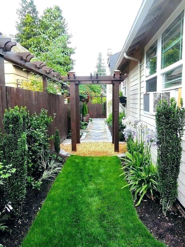 Narrow Yard Ideas Narrow Backyard Ideas Backyard Landscaping Side Yard Landscaping
