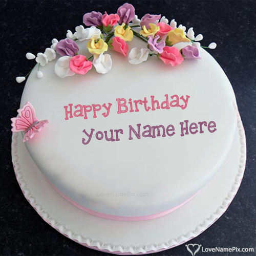 Write Name On Birthday Cake Images With Wishes Picture