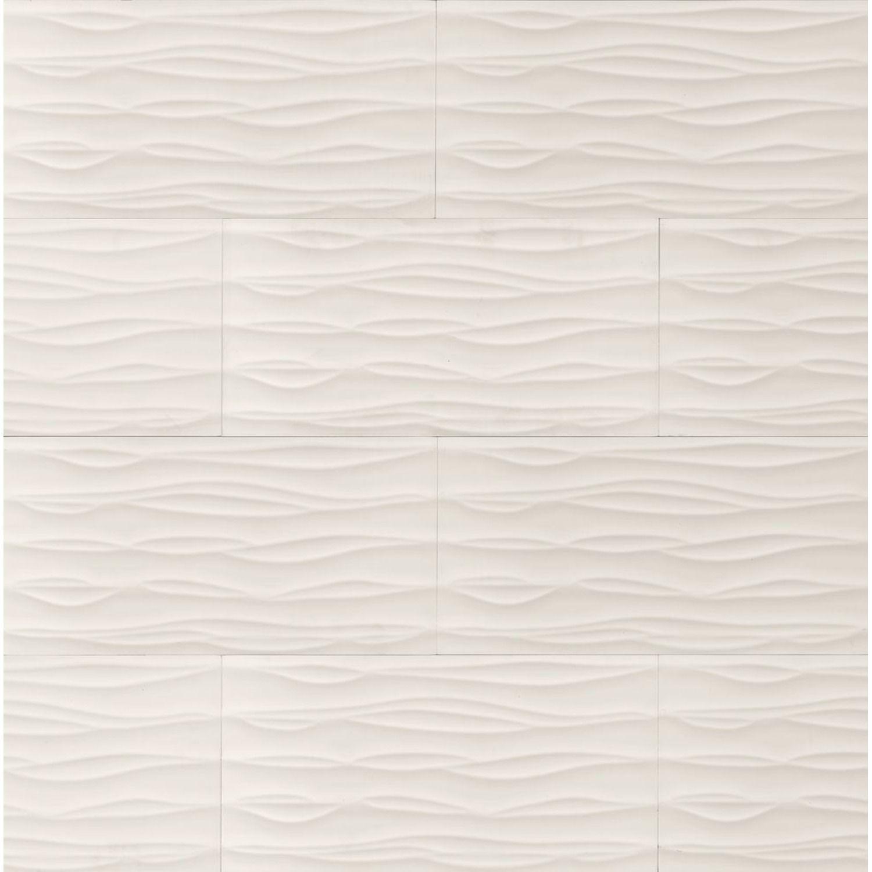 12x24 Wall Tile Wave B W White Shower Wall Tile White Tile Backsplash Shower Tile Designs