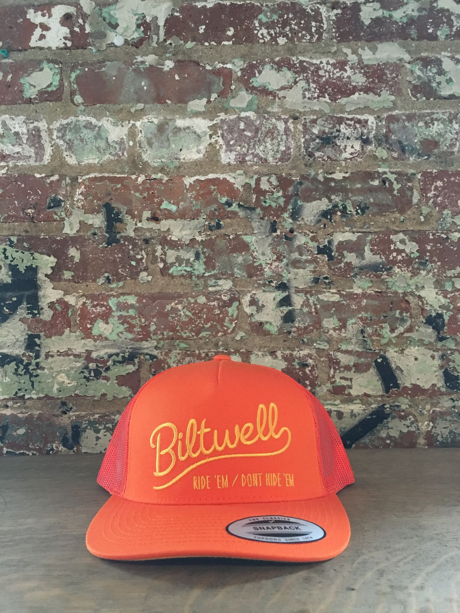 Biltwell Ride 'em Trucker Hat,Orange