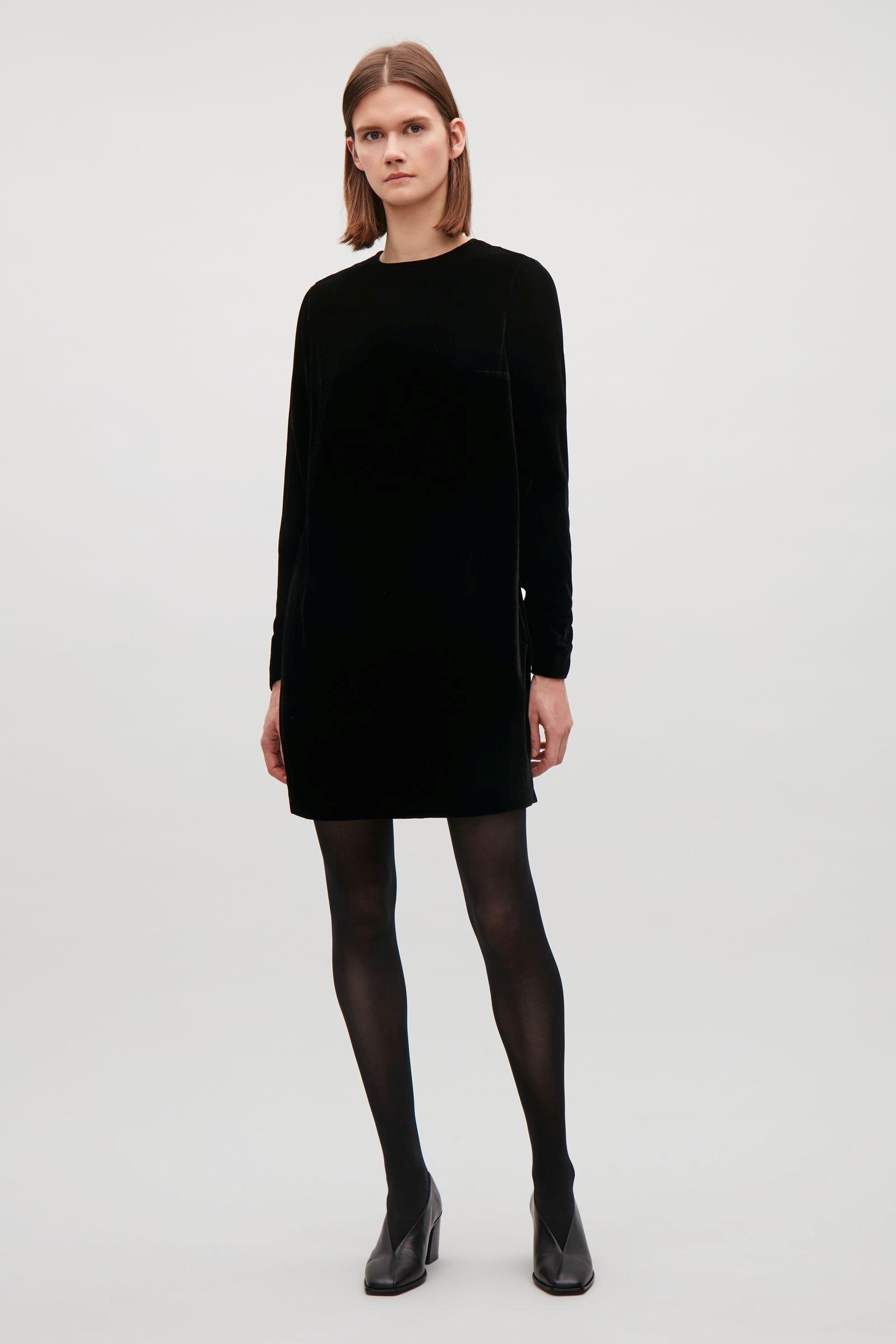 Cos image of velvet dress in black clergy couture pinterest