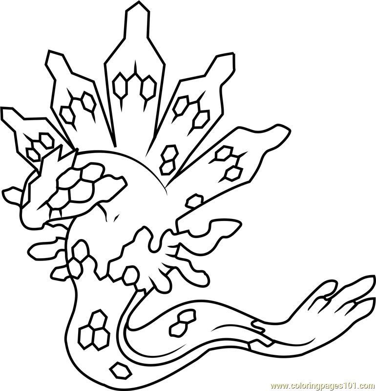 Legendary Pokemon Zygarde Moon Coloring Pages Pokemon Coloring Pages Coloring Pages