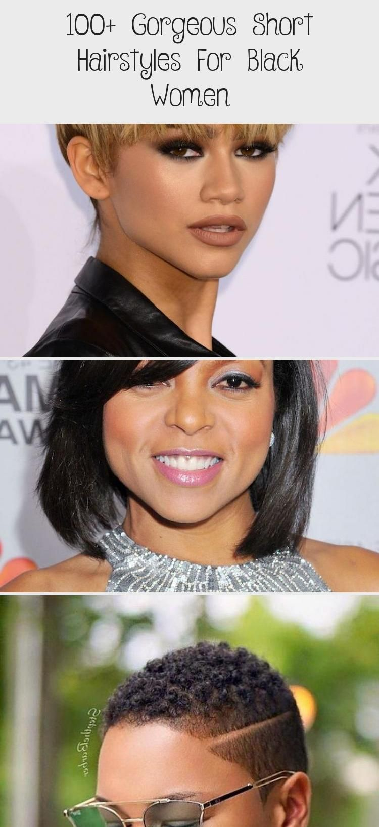 100+ Gorgeous Short Hairstyles For Black Women #bunshairstylesforblackwomen