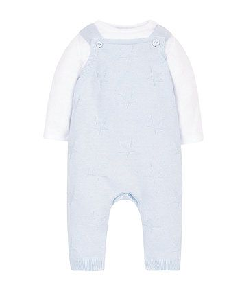 15da730d41cc My First knitted dungaree and bodysuit set £18 (pale blue knitted ...