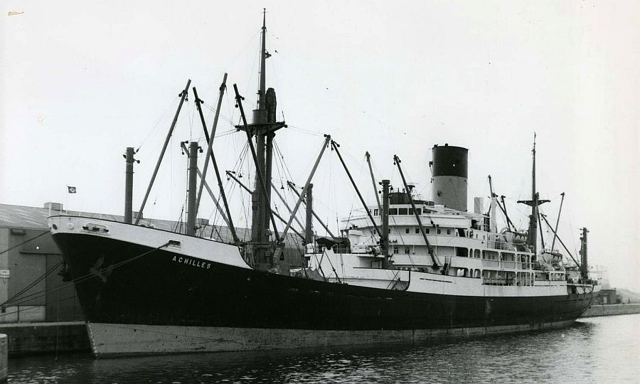 Mv achilles a refrigerated cargo ship built by vickers for Built by nester