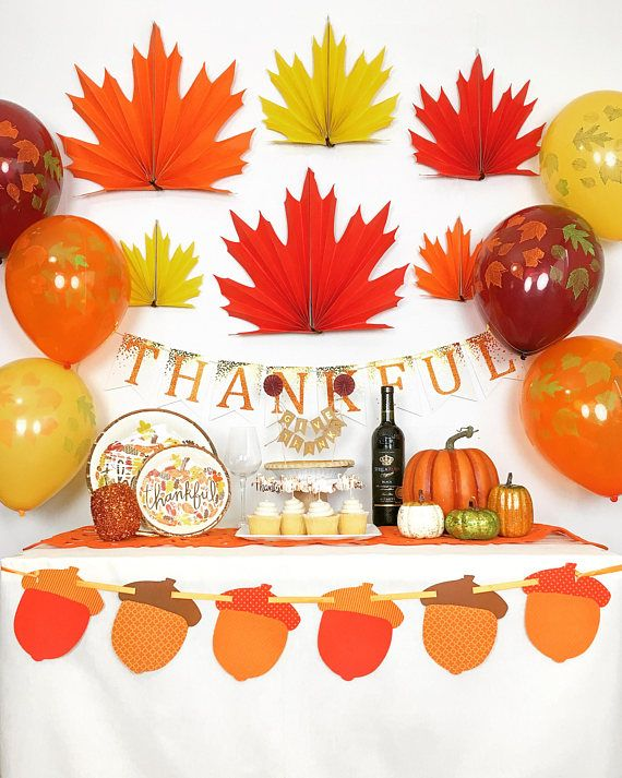 Thanksgiving Party Decorations Fall Party Decorations Autumn